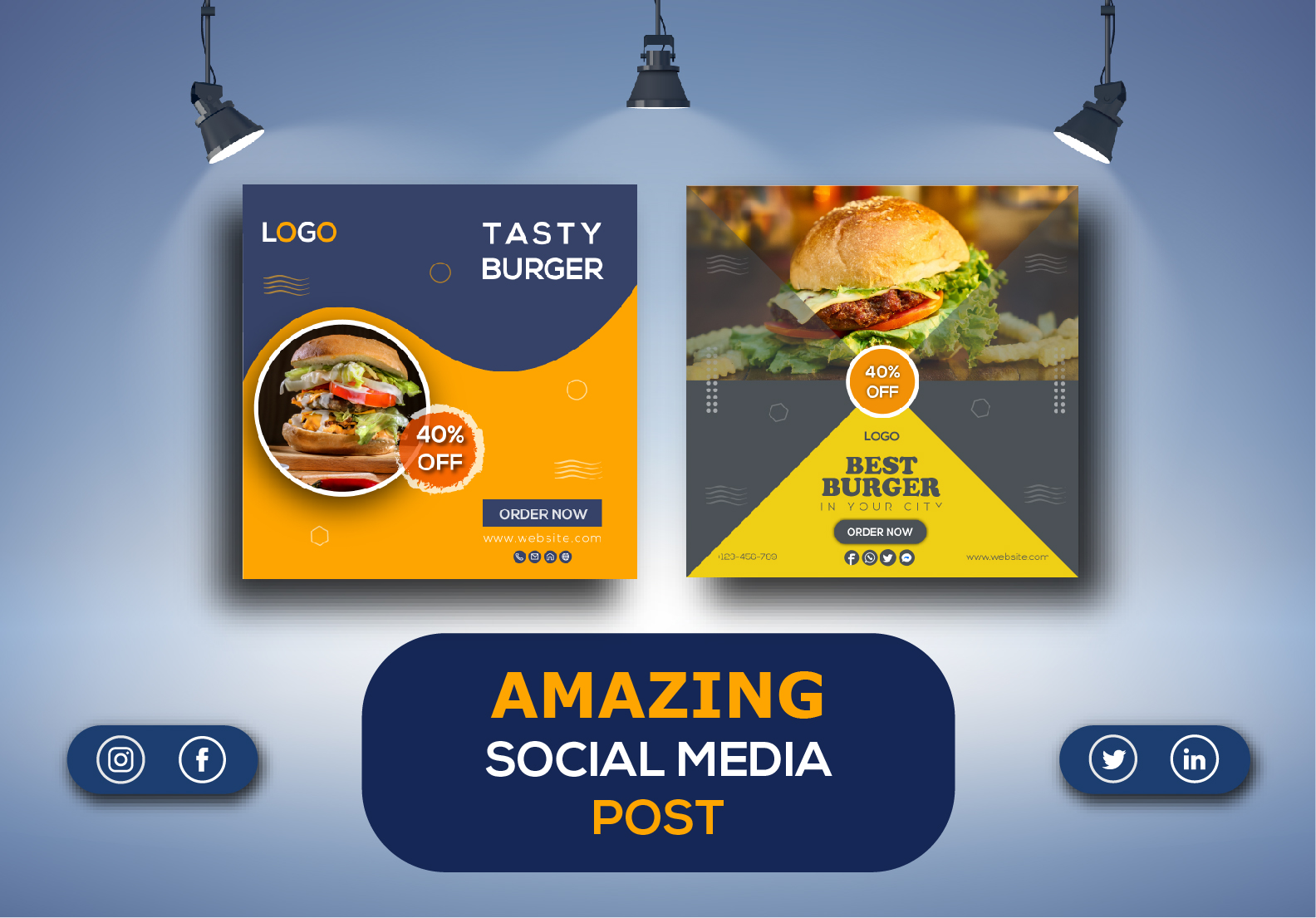 I Will Design Amazing Social Media Post for Facebook,  Instagram,  Twitter