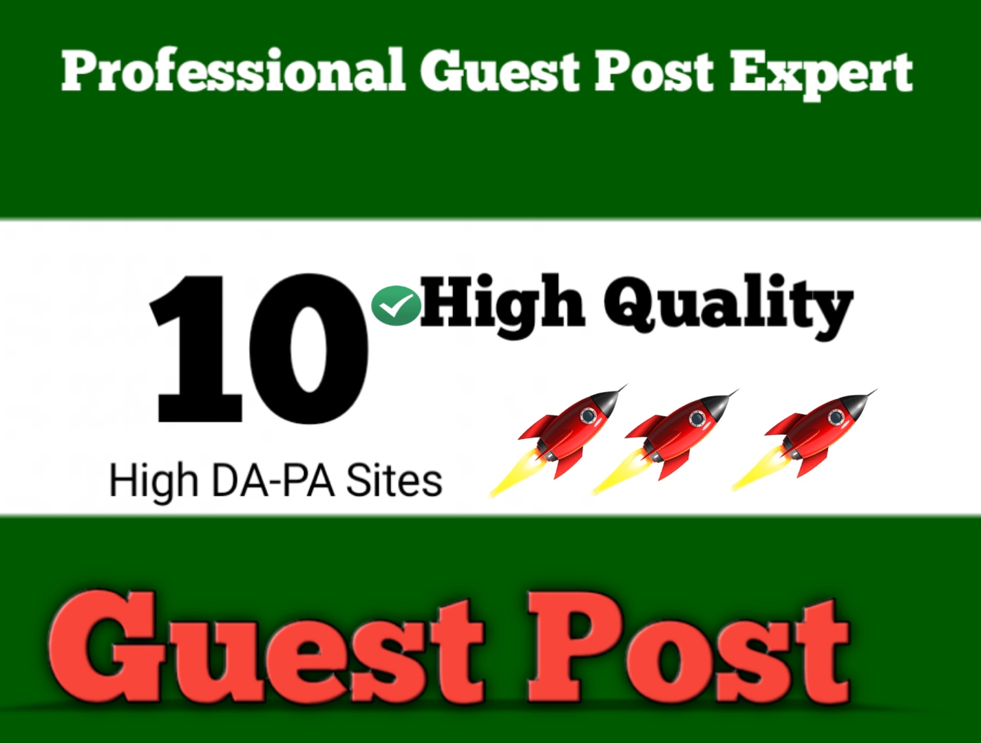 Write and Publish guest posts on 10 HQ blogs DA90+ DoFoIIow Backlinks