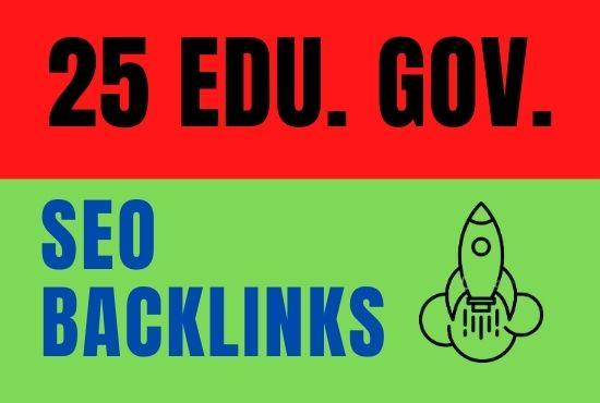 I will provide HQ da 25 edu/gov backlinks to boost your google rank