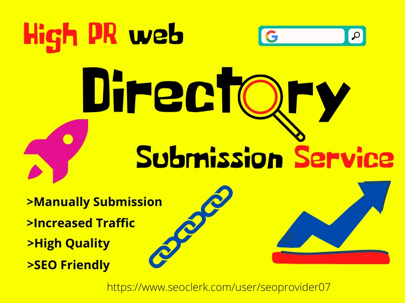 I will provide 100 Directory Submission manually on high PR Website