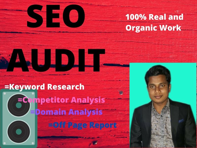 I will do SEO audit professionally to rank, competitor, analysis and action your website