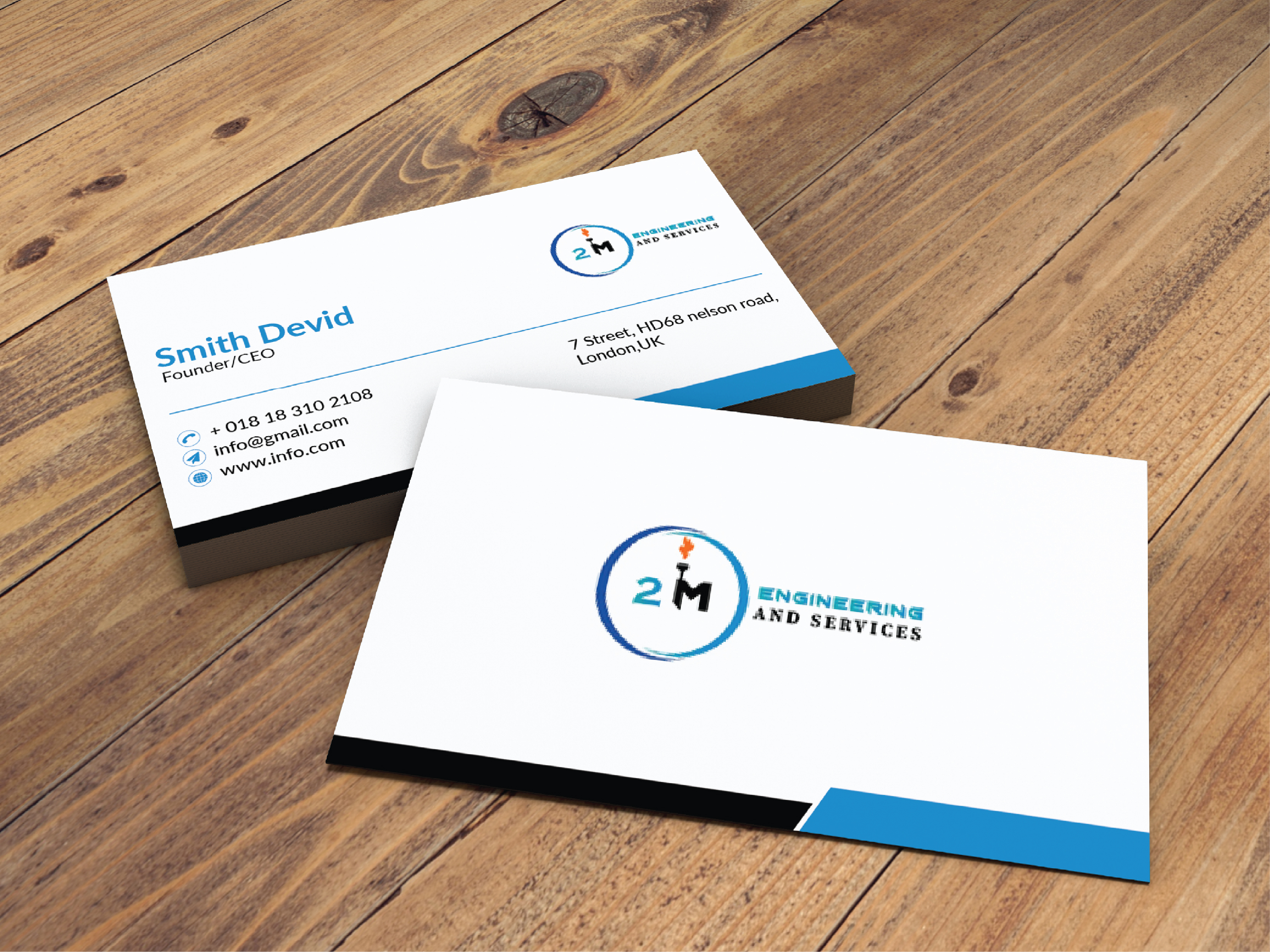 Design a Clean and Modern Double Sided Business Card