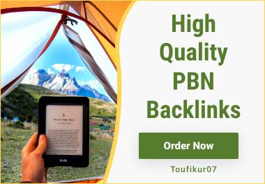 Build 12 High PA DA TF CF HomePage PBN Backlinks - Dofollow Quality Links
