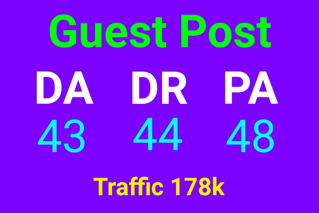 I will publish guest post on DA 43 website with all niches