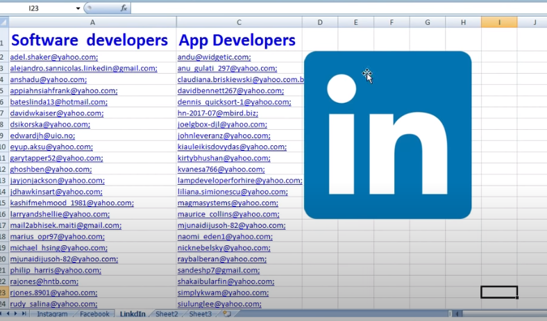 scrape active targeted email from any social Media Platform