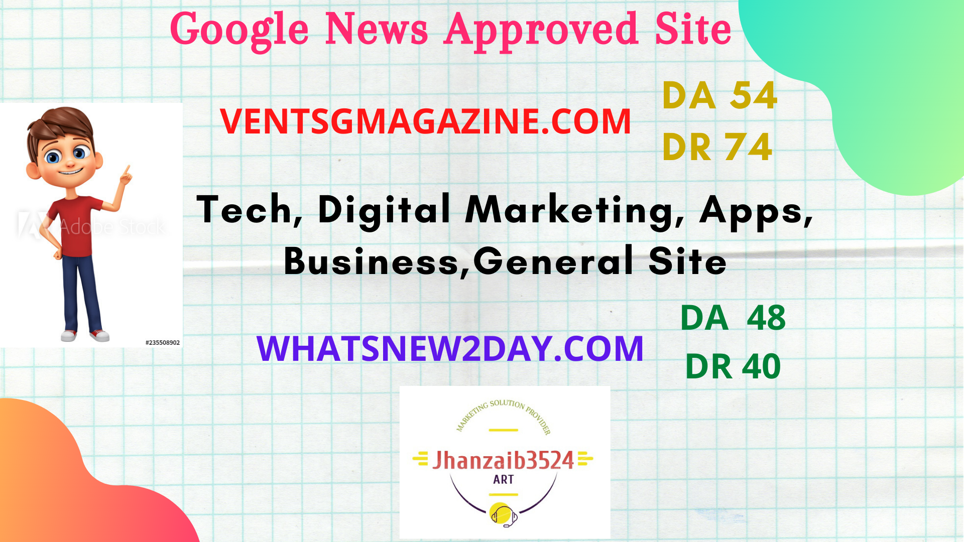 I will publish high quality SEO guest post on my da 54 and da 48