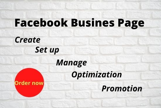 I will create,  set up,  manage and promotion Facebook business page