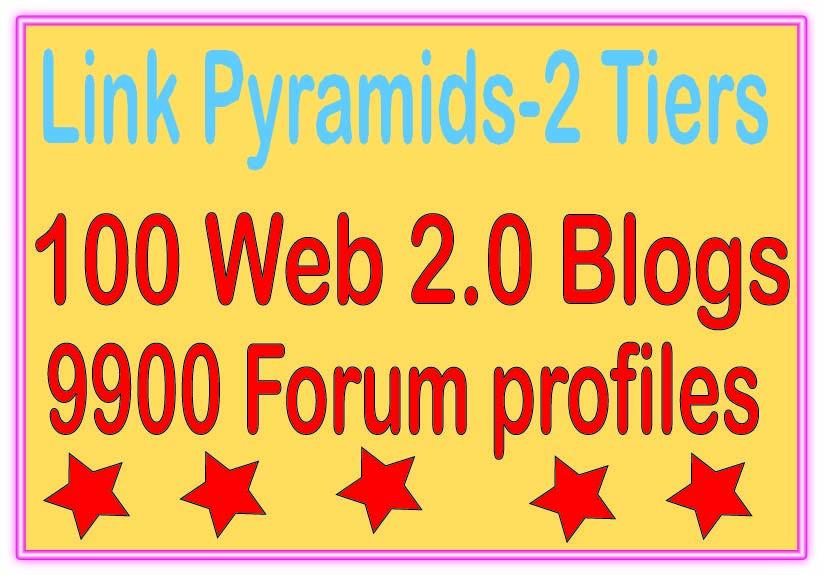 Boost Multi-Tier Backlinks - 10000 Web 2.0 Blogs &. Forum profiles Tiered Backlinks For SEO