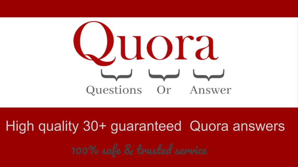 High quality 30+ guaranteed Quora Answer with website keyword,  URL
