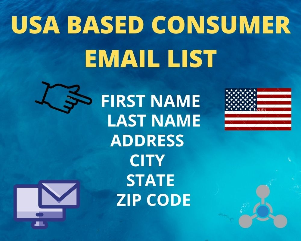I will provide 1000 usa based consumer valid mail for your business