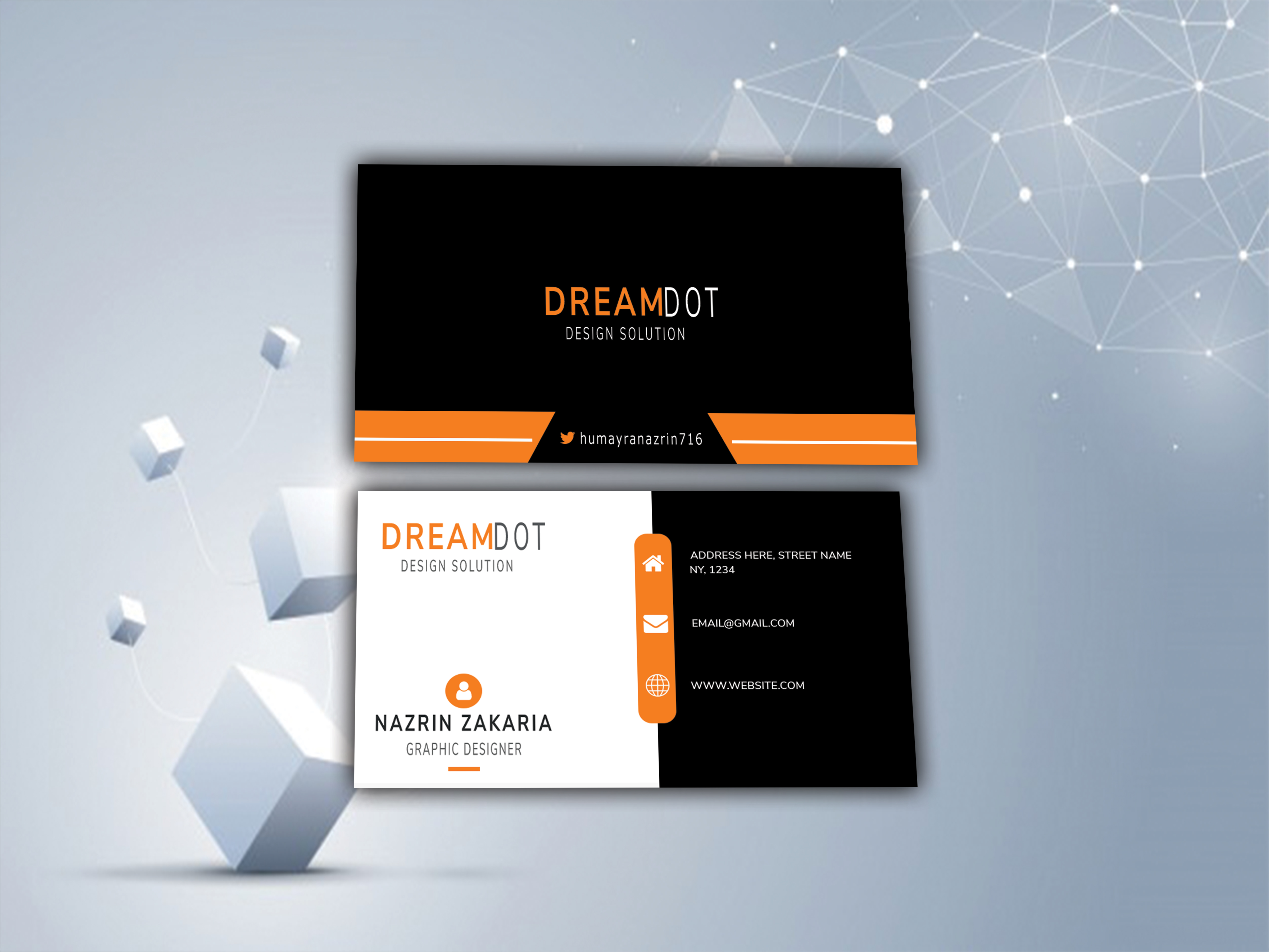 I will do Professional Business card Design in 2 hours.