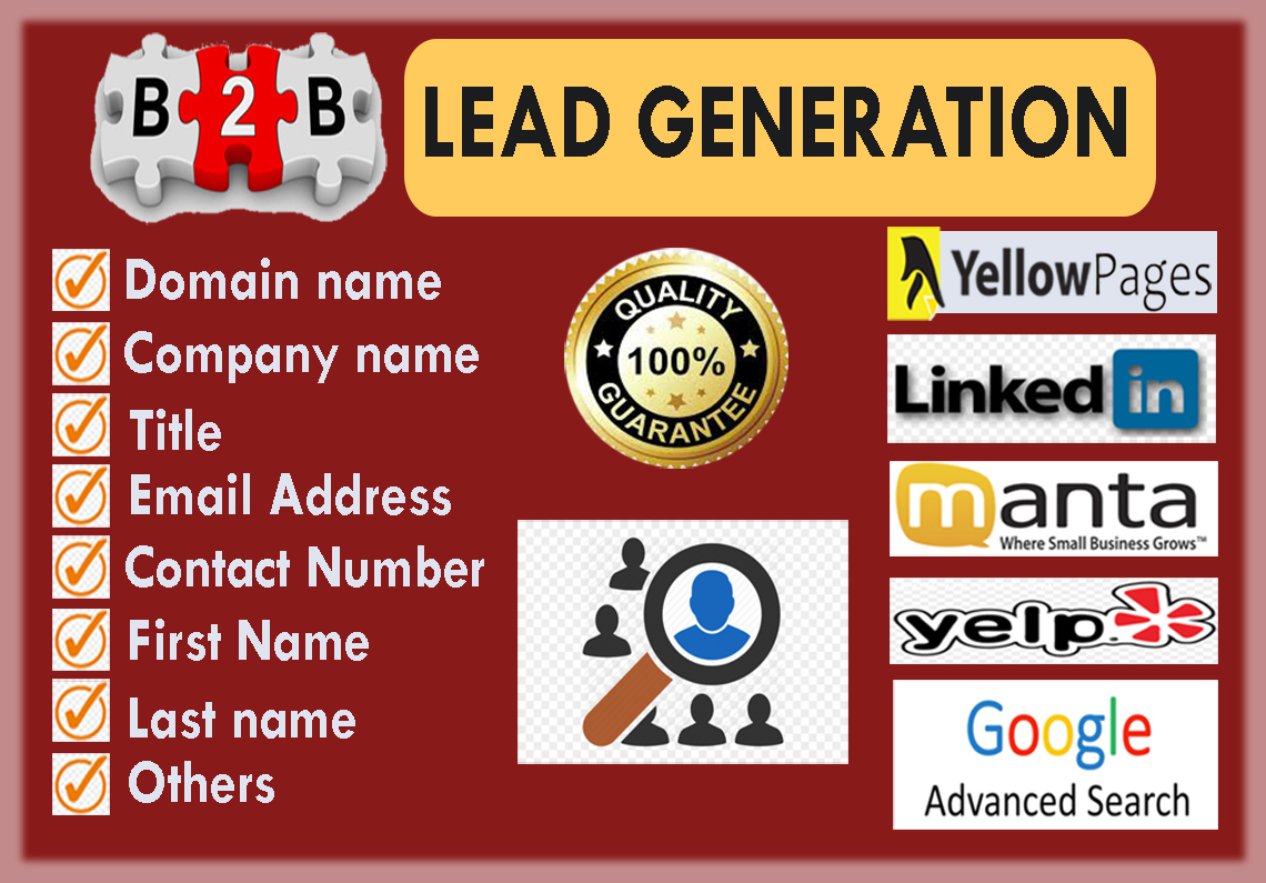 collect 100 targeted leads as per your requirements.