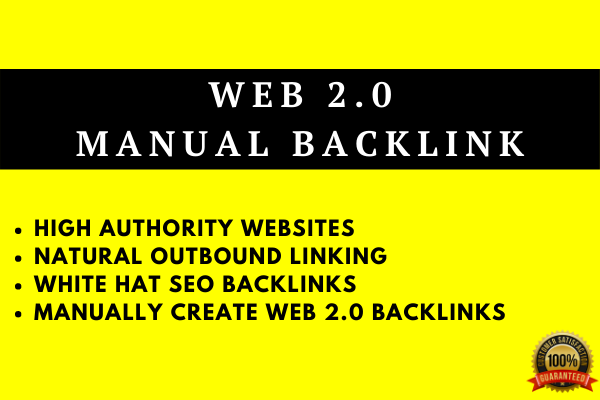 I will rank your blog with 20 web 2 0 backlinks