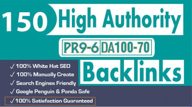 I will create 150 high authority profile backlinks manual SEO service