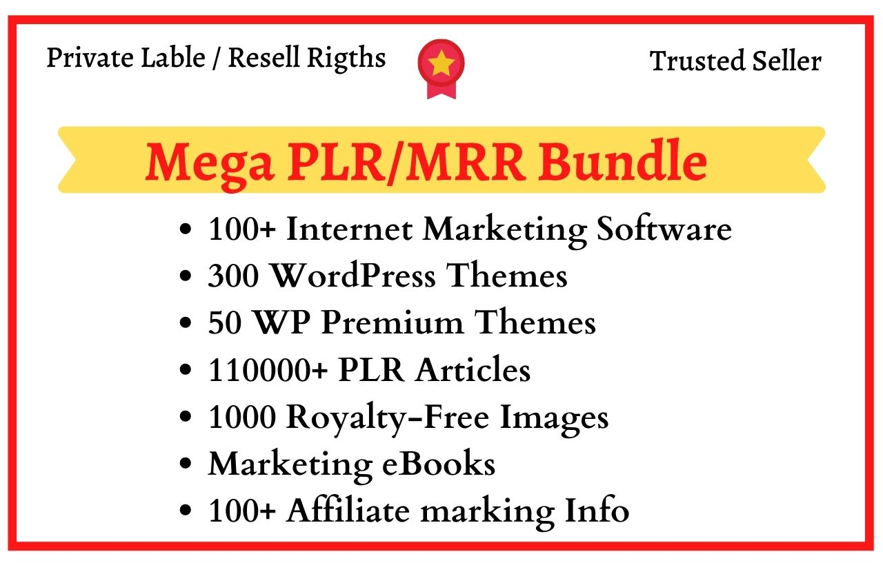 I will give you 100+ Marketing software, 300 wordpress themes, ebooks, plr articles, and much more