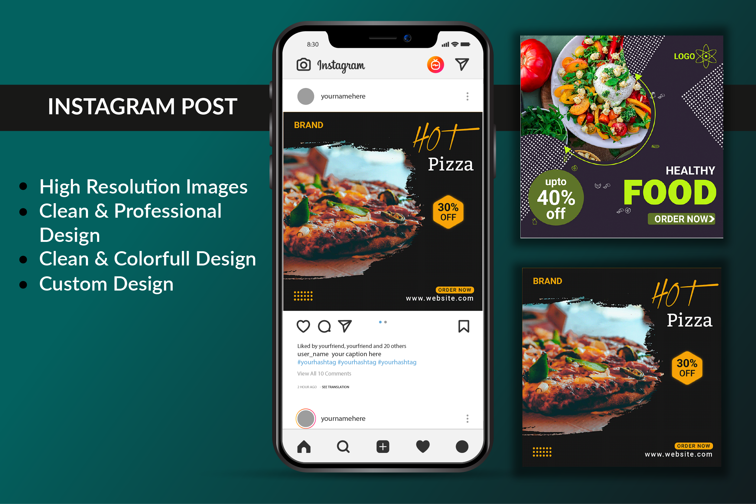 I will design premium quality Instagram post professionally.