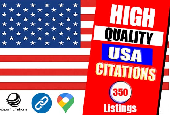 I will post your business on top 350 high quality USA citations