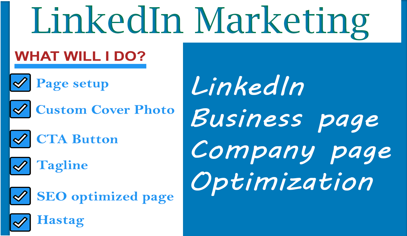 I will Create LinkedIn Business page and Company Page for your Business