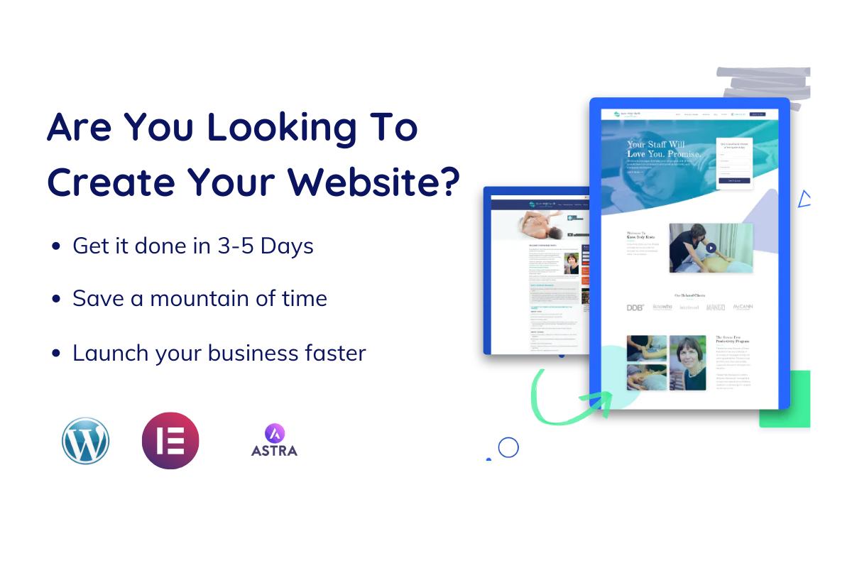 Create landing page,  full website by using WordPress,  elementor pro,  astra pro