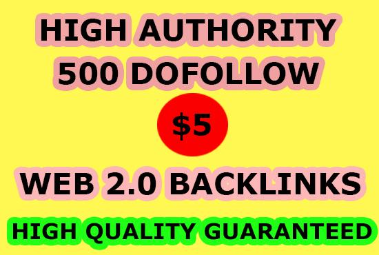 I will do 500 dofollow web 2 0 blog contextual SEO backlinks