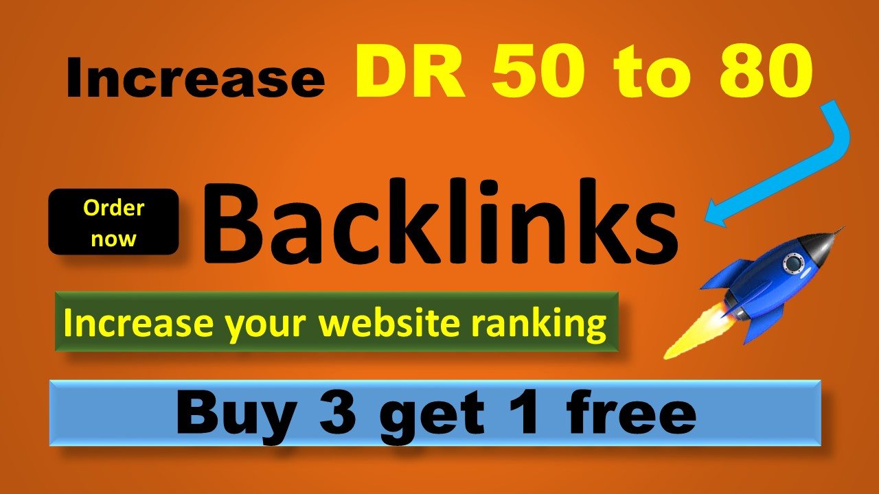 Manually create 30 high DR 50 to 80 permanent homepage dofollow backlinks