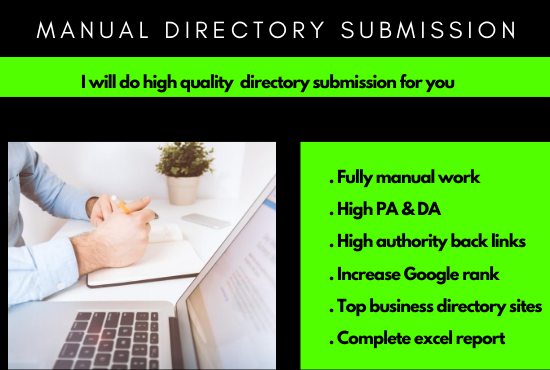I will manually do 50 high quality directory submissions
