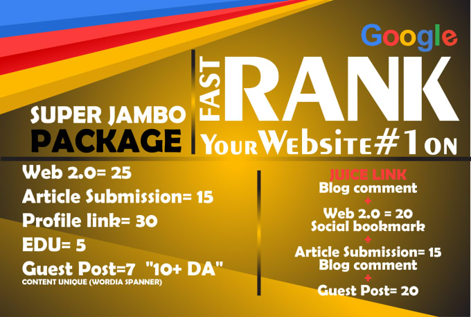 I will DO full SEO pACKAGE TO boost your Site Ranking