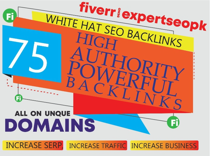 I will build unique domain SEO backlinks 75 on da100 tf100 sites