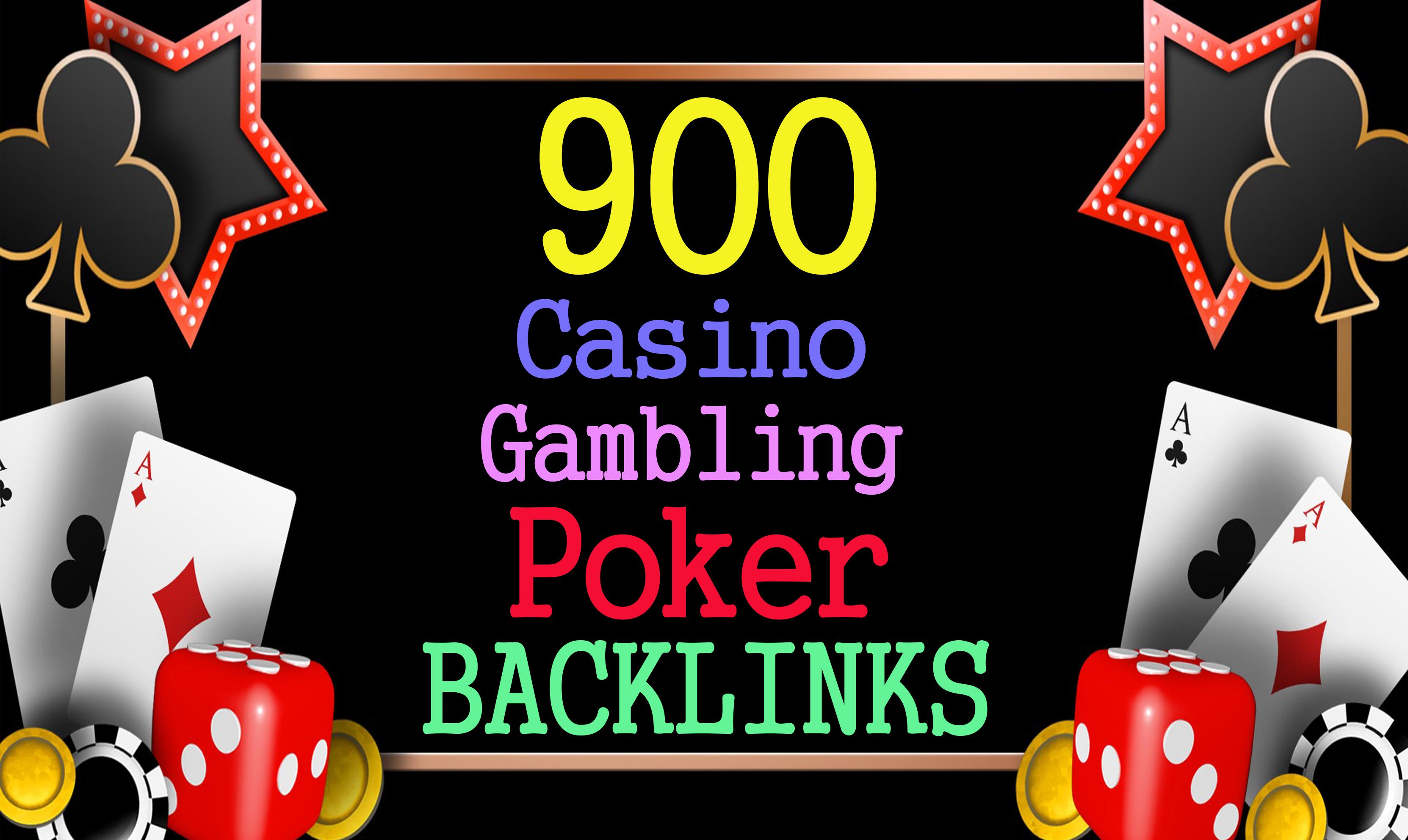 Permanent 900 powerful Casino,  Gambling,  Poker,  Sports High Quality Web2.0 Backlinks