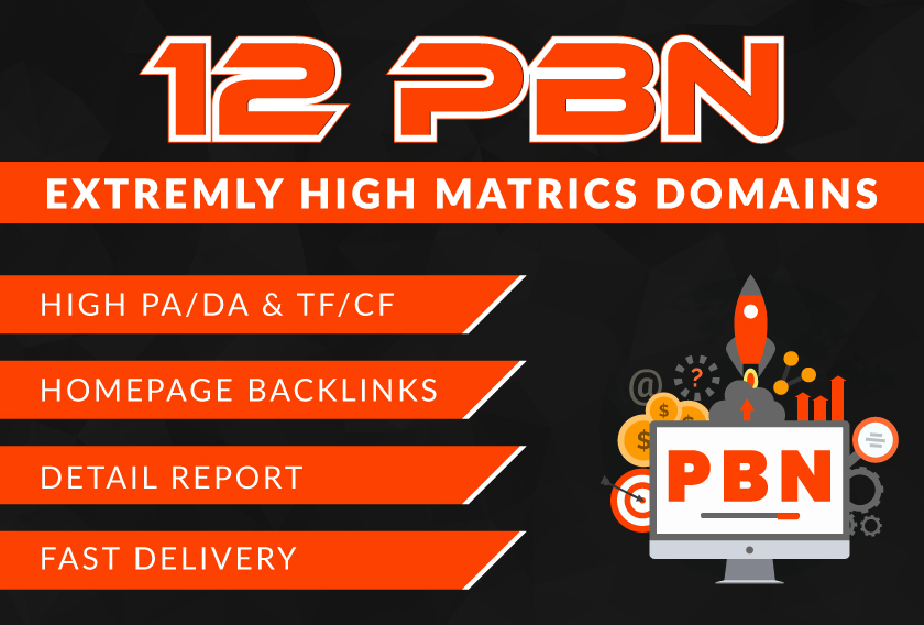 provide 12 Manual homepage Pbn links