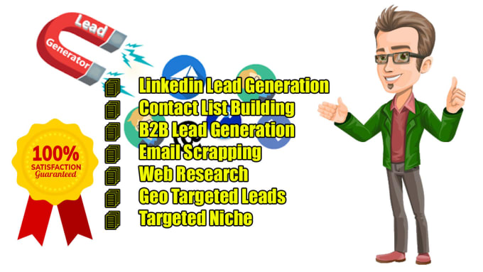 I will do targeted email list and b2b lead generation fainding