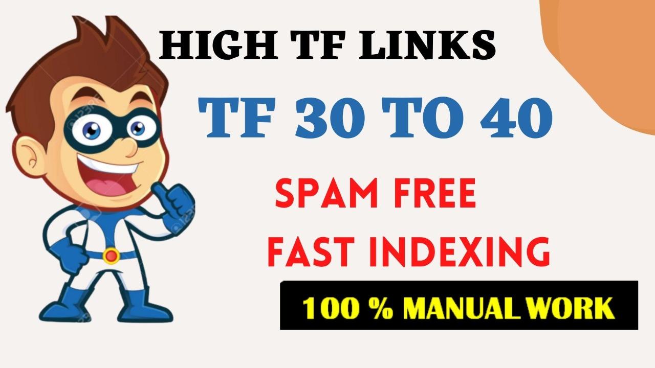 I will give 3 homepage dofollow SEO backlink tf 30
