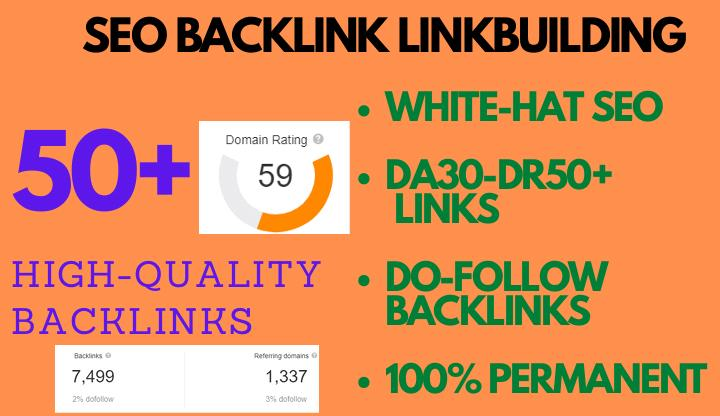 I will provide 5 DR 50 permanent homepage dofollow backlinks