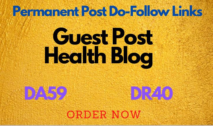 I will give you guest post at health and beauty blog da 59 DR 40