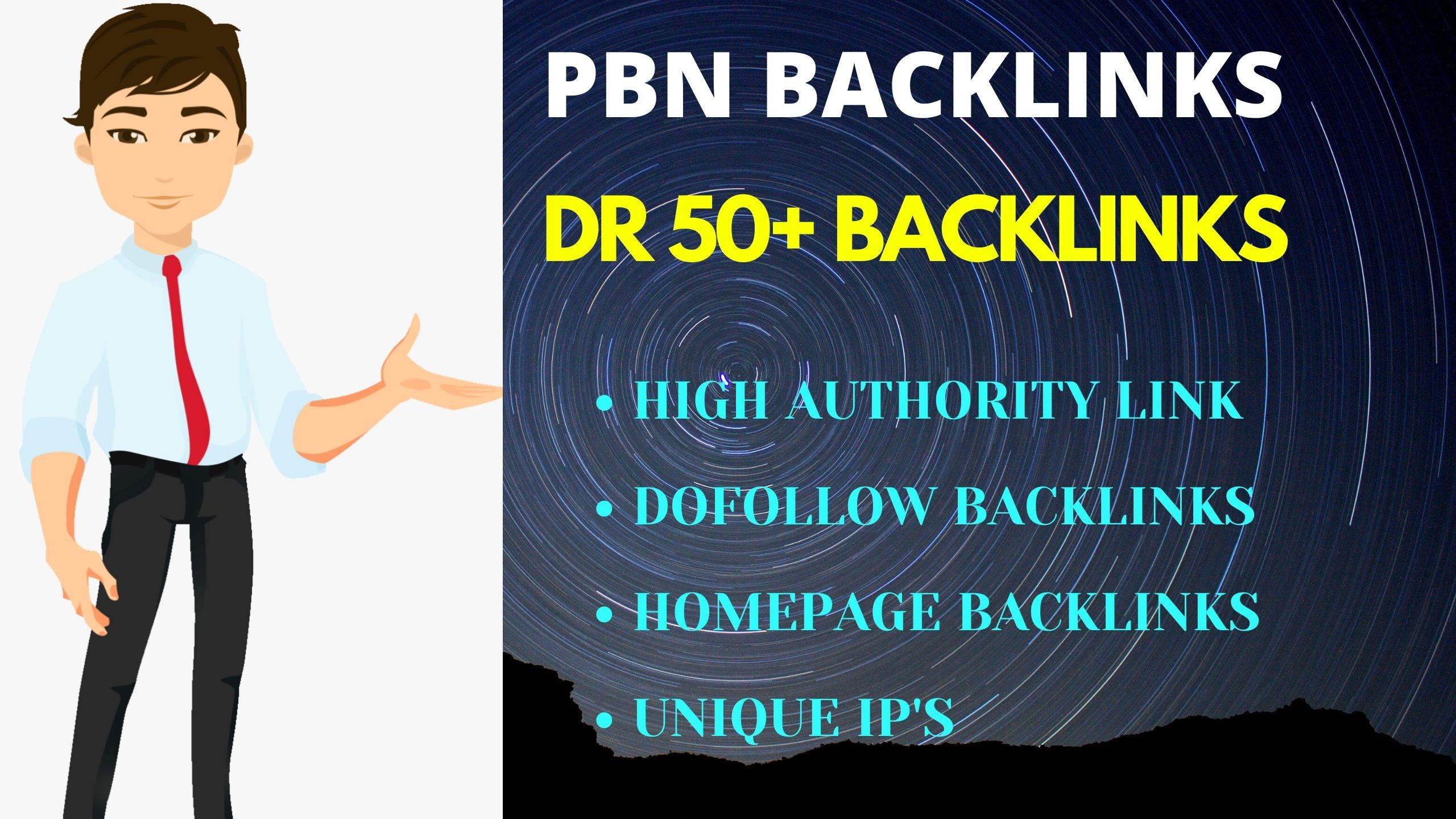 I will provide 3 DR 50 permanent homepage dofollow backlinks