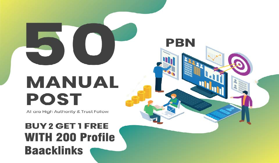 You will get 50 high metrics PBN posts on contextual backlinks with 200 Profile Backlinks