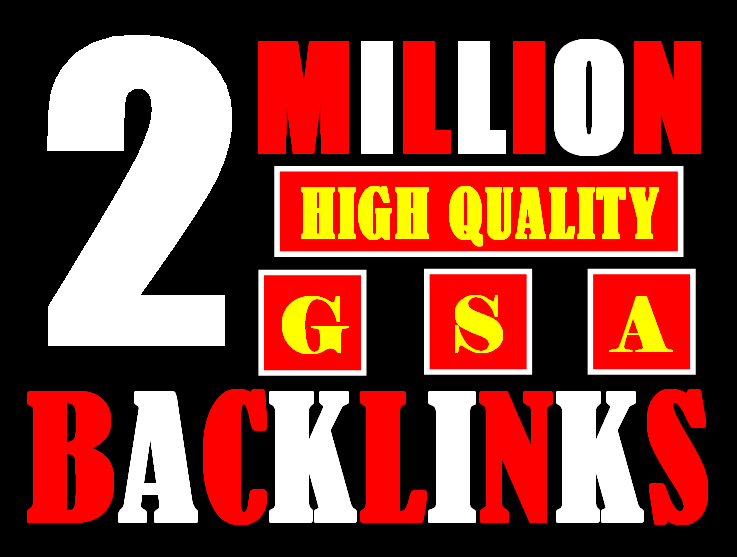 I will build 2 million gsa ser backlinks to increase ranking and index on google