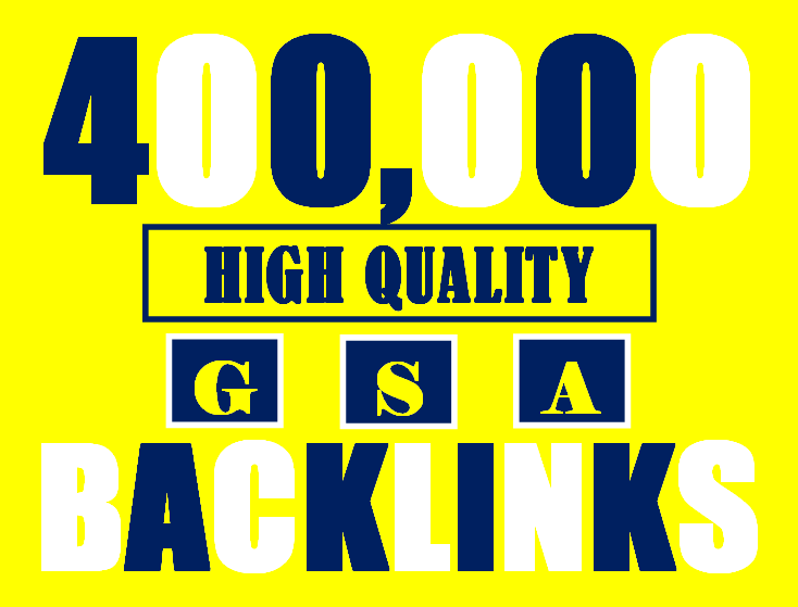I will build 400K gsa ser backlinks to increase ranking and index on google