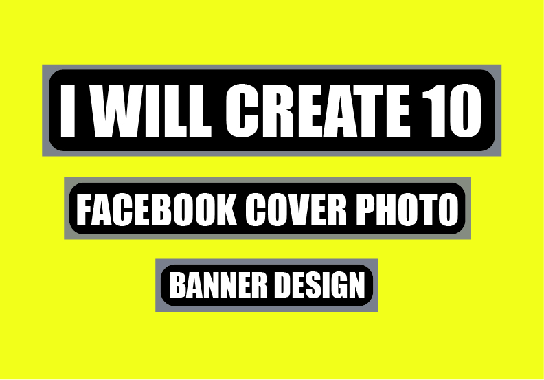 I will create awesome cover photo banner design