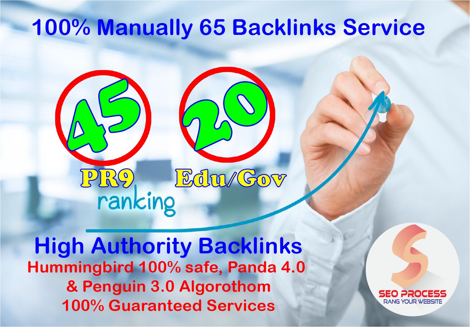 45 Pr9 Dofollow + 20 Edu - Gov High SEO Authority Backlinks - Fire Your Google Ranking