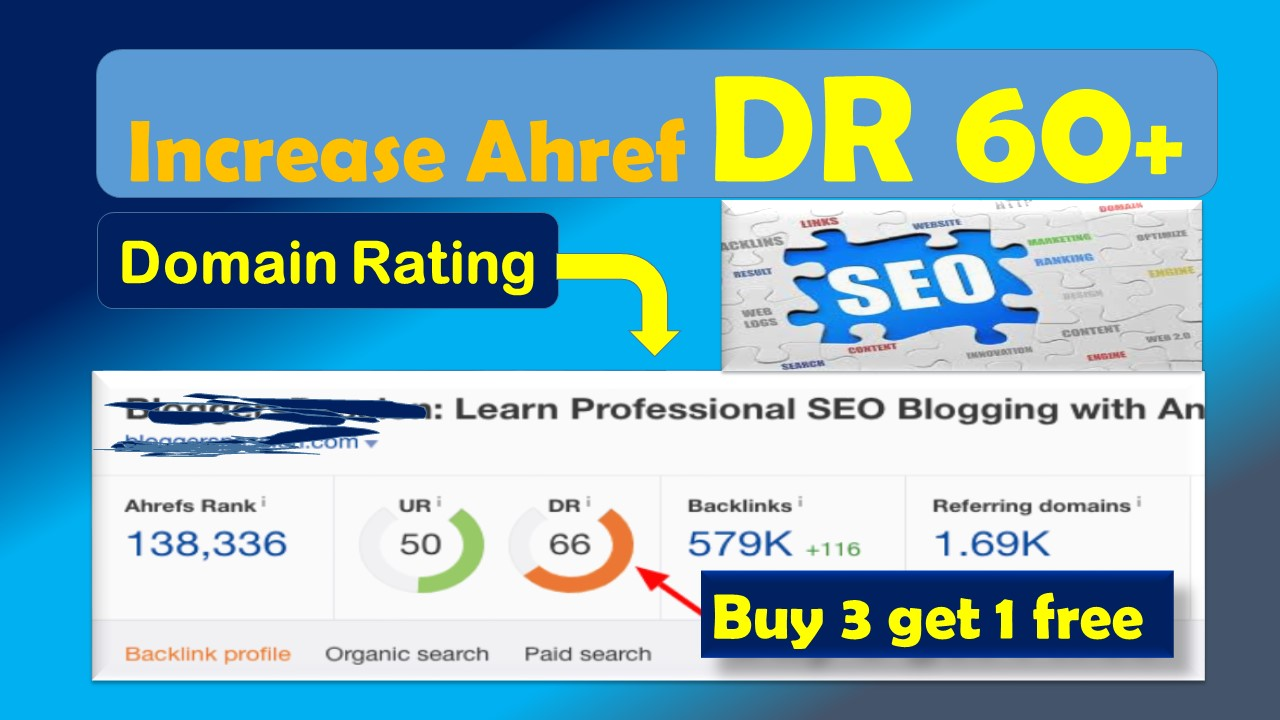 i'll increase Ahref domain rating 50 plus Guaranteed
