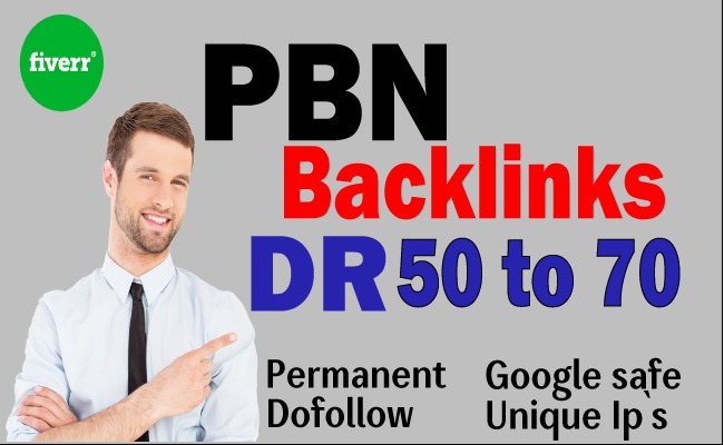 I will make DR 50 to 70 high quality dofollow seo backlinks
