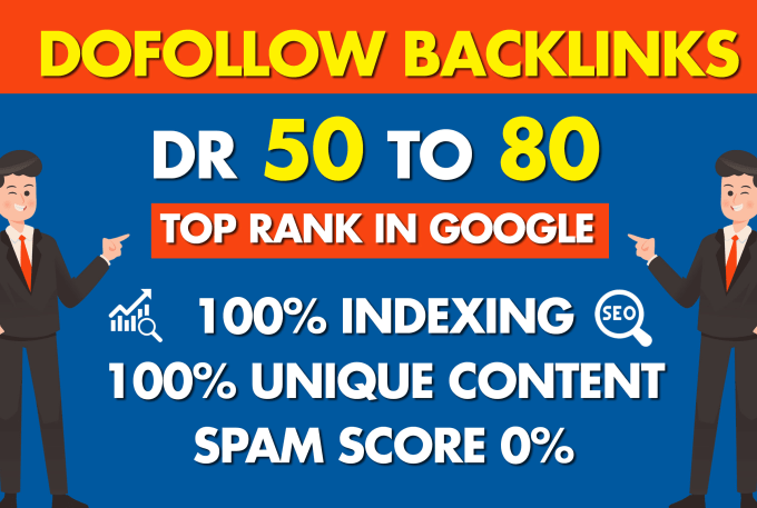 I'll make 10 high dr 50 to 80 plus dofollow backlinks to improve your ranking