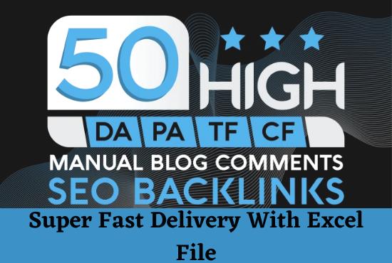 do niche relevant dofollow Manual Blog Comments High Da Pa sites
