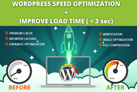 Speed Up WordPress website,  improve load time,  increase page speed 100