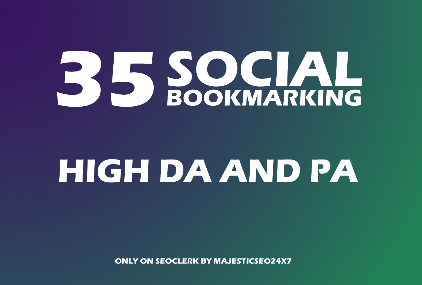 Instant 35 Live Social Bookmarking Links within 24 hours for 3