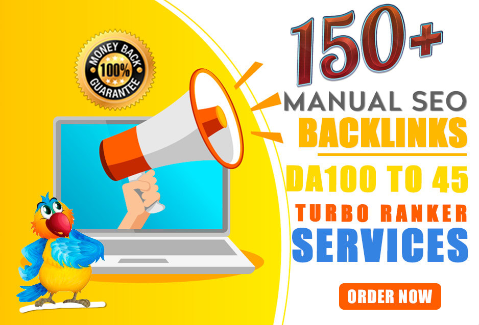 I will 150 SEO backlinks white hat manual service for google top ranking