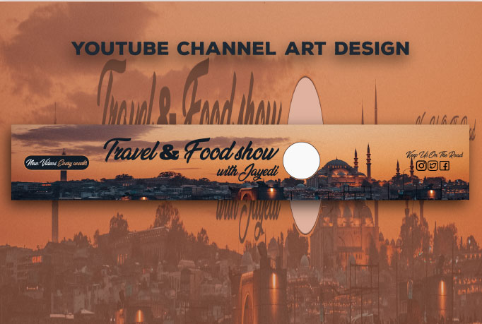 I will design Youtube banner for you in 8 hours