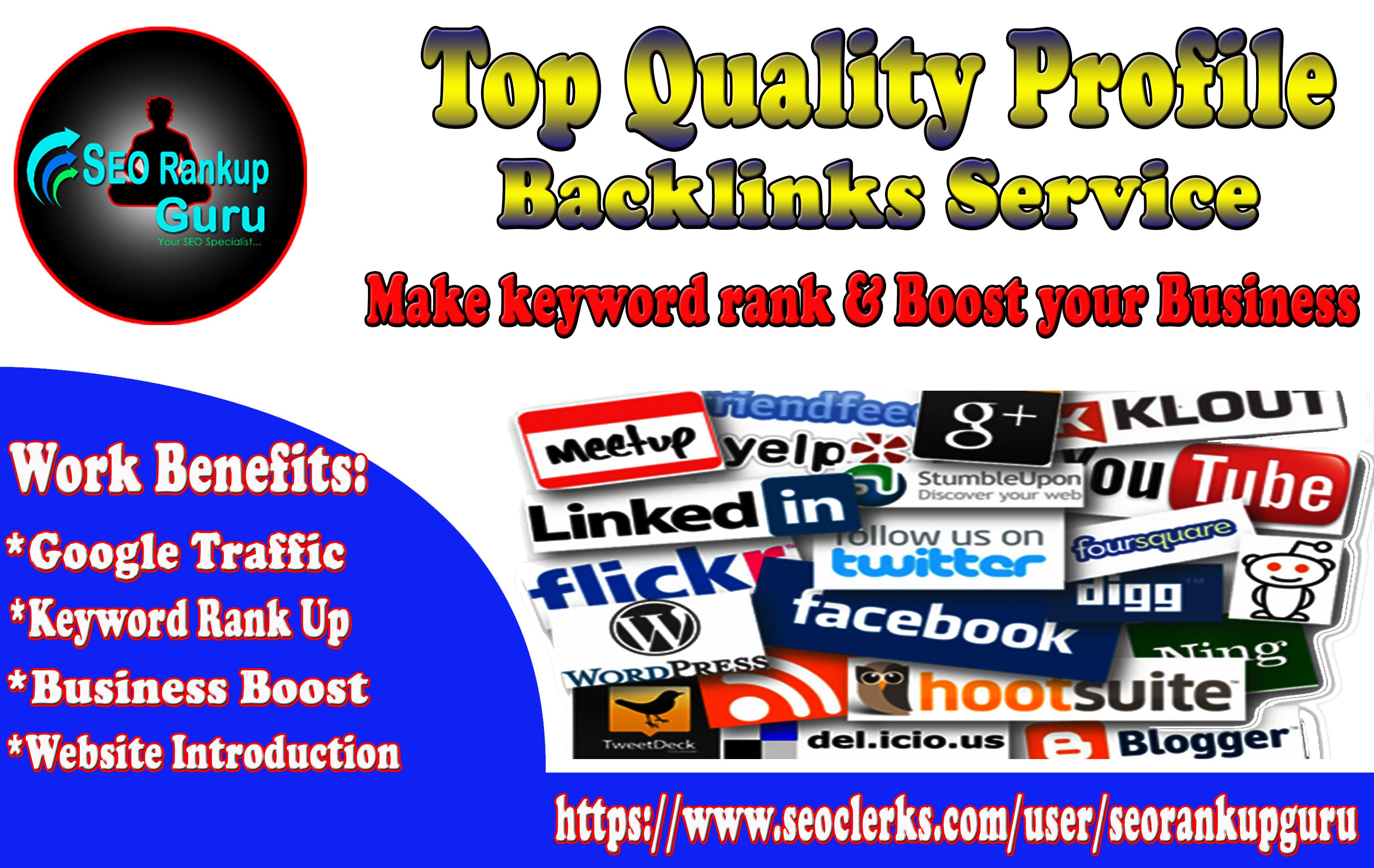 Top 150 Unique High DA Profile Backlinks Service For Website Rank Boosting