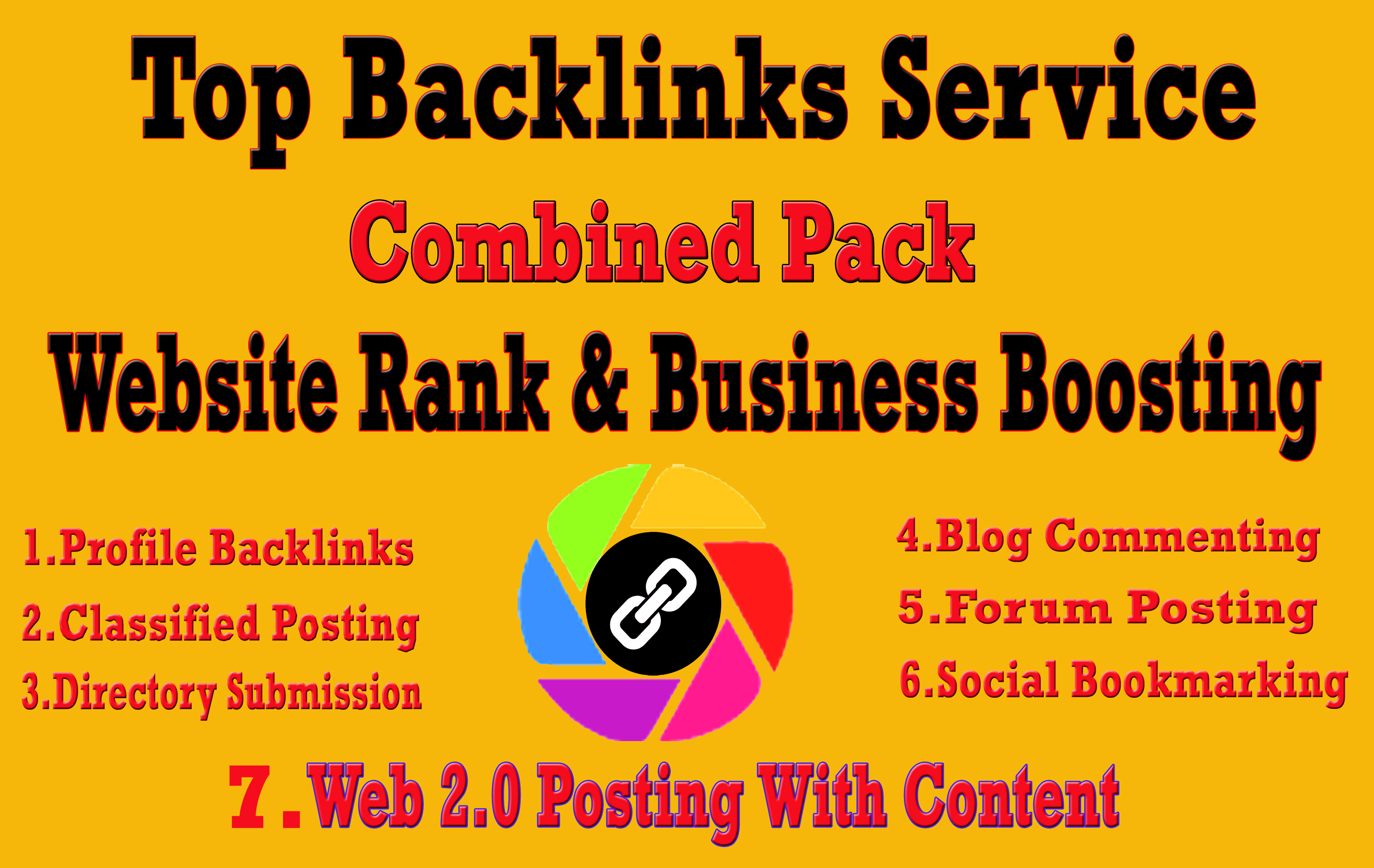 I Will Do Top Combined Backlinks Service for Package-1